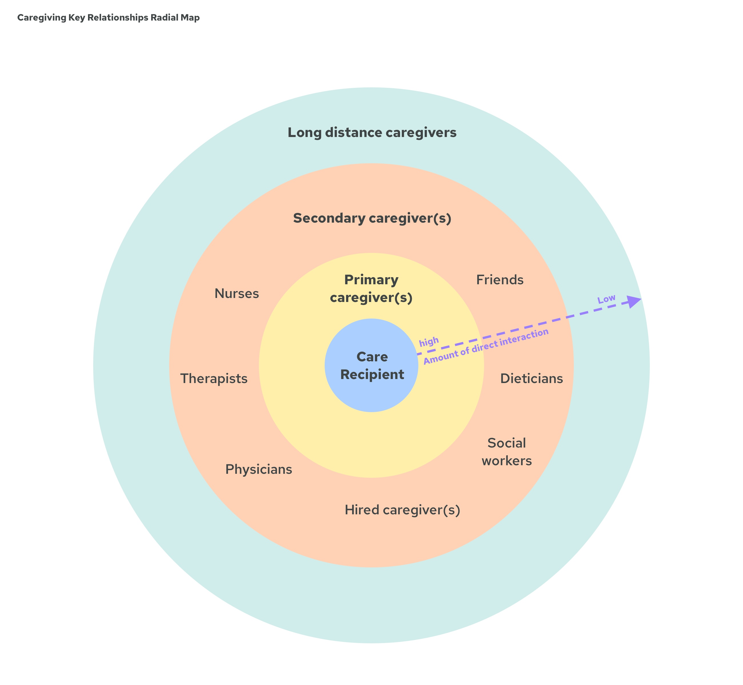 Caregiving Key Relationships Radial Map